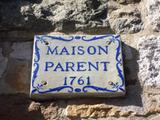 Maison Parent. Plaque. Vue avant