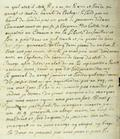 Document (Lettre de Duplessis-Fabert à De Lavaltrie)