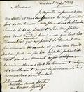 Document (Lettre de Charles de Léry à Louis Guy)